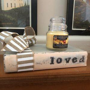 Bookshelf Decor and candle